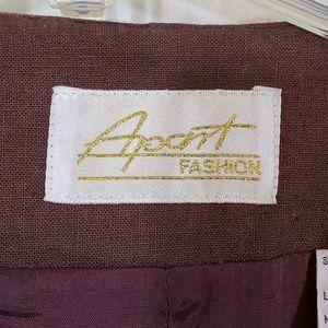 Apart Fashion Jackets & Coats - Apart Fashion Brown Career Blazer Lined Size 14